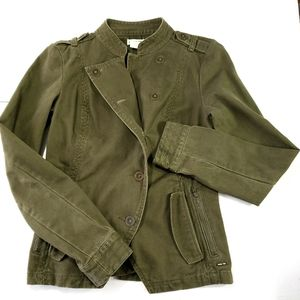 Hang Ten Olive/Army Green Utility Jacket Sz Small